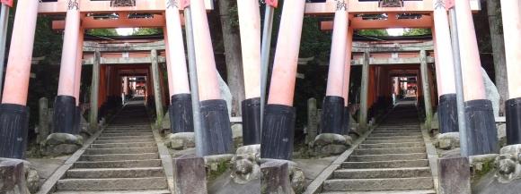 伏見稲荷大社 荒神峯(平行法)