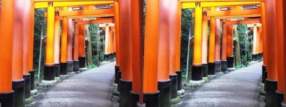 伏見稲荷大社 お山巡り⑥(平行法)