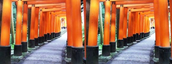 伏見稲荷大社 お山巡り④(平行法)
