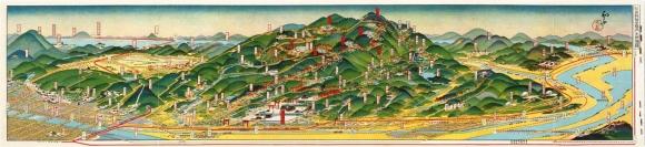 伏見稲荷全境内名所図絵 吉田初三郎(1925年)