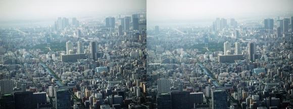 東京眺望⑩(交差法)