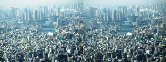 東京眺望⑦(交差法)