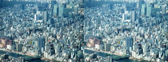 東京眺望⑥(平行法)