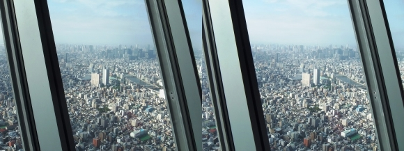 東京スカイツリー展望台⑥(平行法)
