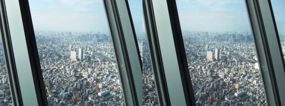 東京スカイツリー展望台⑥(交差法)