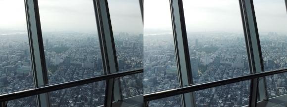 東京スカイツリー展望台⑤(平行法)