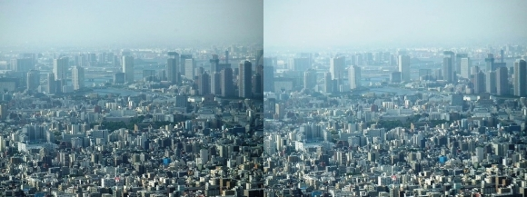 東京眺望⑤(平行法)