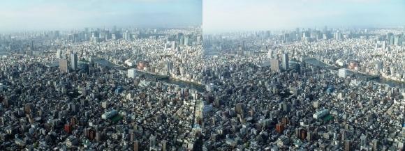 東京眺望④(平行法)