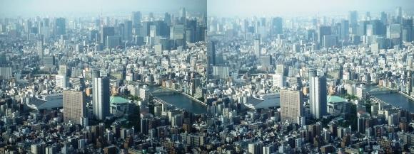 東京眺望③(平行法)