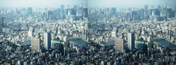 東京眺望③(交差法)