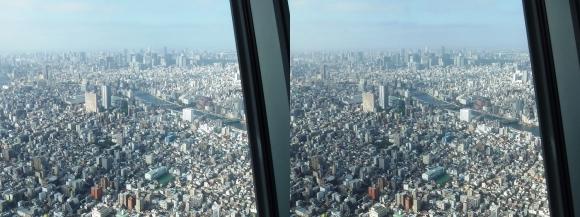 東京スカイツリー展望台③(交差法)