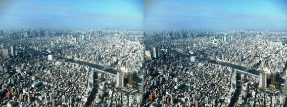 東京眺望①(交差法)