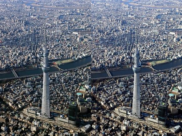 東京スカイツリー空撮(平行法)