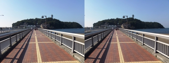 江の島弁天橋②(交差法)