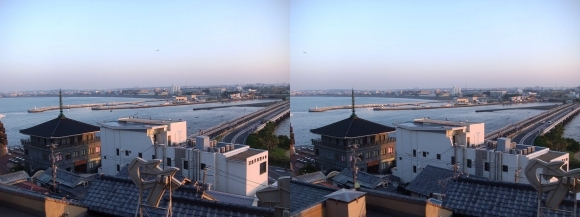 江島神社 片瀬漁港②(交差法)
