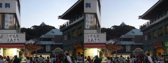 江島神社 表参道 夕暮れ(交差法)