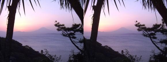 江の島 富士山落陽③(交差法)