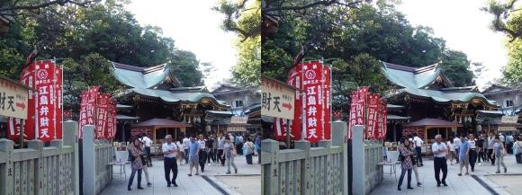 江島神社 辺津宮②(平行法)