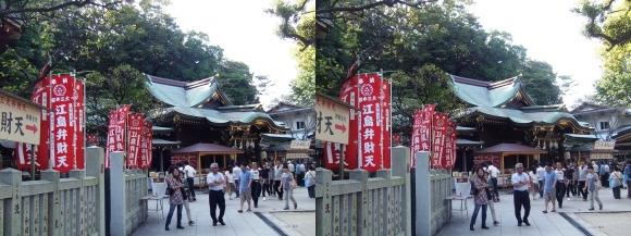 江島神社 辺津宮②(交差法)