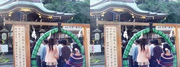 江島神社 辺津宮 茅の輪潜り(平行法)