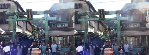 江島神社 青銅の鳥居(交差法)
