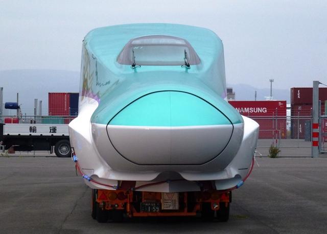 北海道新幹線 H5系 陸揚げ後