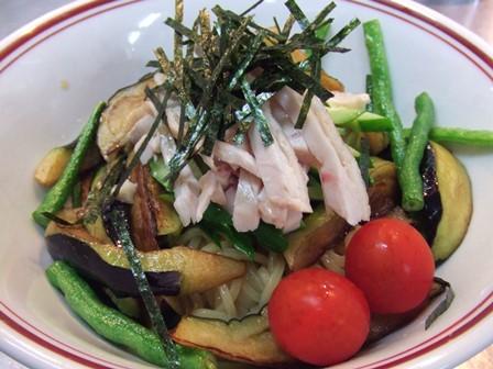 揚げ野菜の涼麺