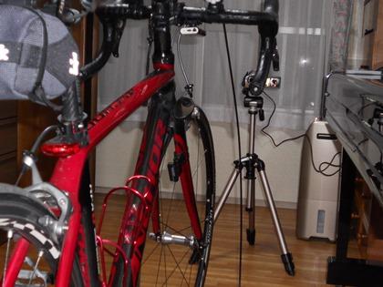 自転車コギコギ撮影