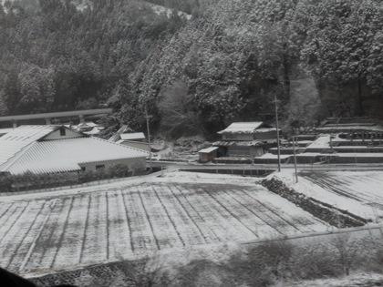県境雪景色