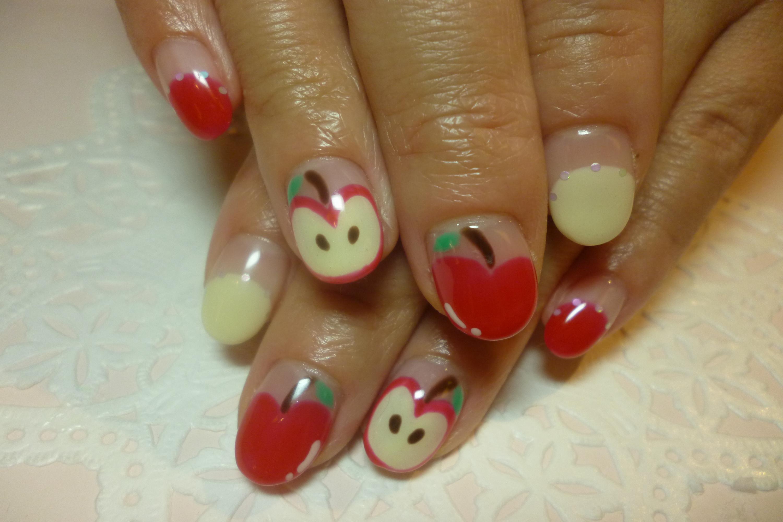 ネイル りんご