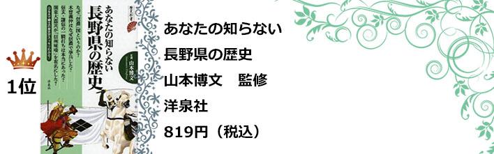 1位あなたの知らない長野県の歴史