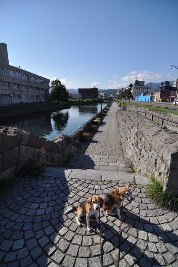 327小樽運河で記念撮影