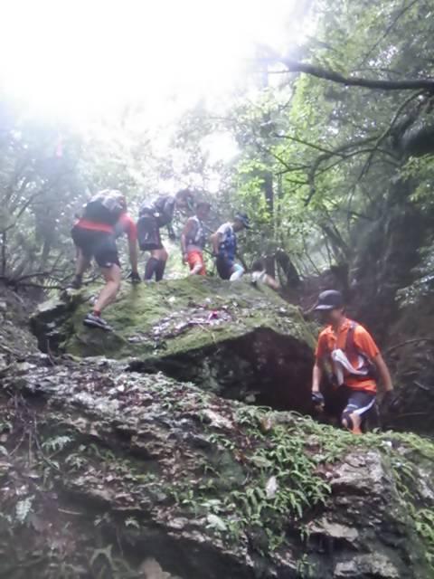 京都豪雨トレイル岩