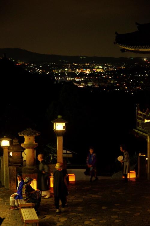 二月堂 盆踊り 夜景