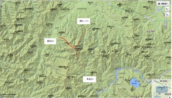 御神楽岳map