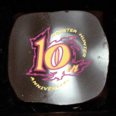 モンスターハンター10周年記念ショコラ 10周年ロゴ