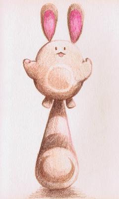 オタチ 色鉛筆