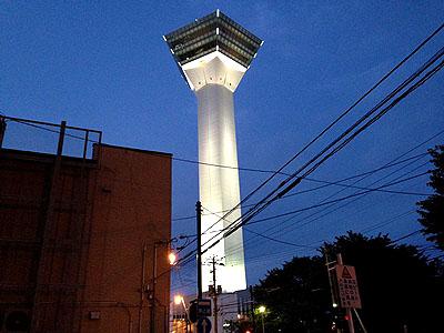 夜の五稜郭タワー