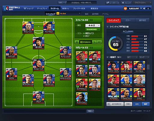 本格サッカーシミュレーションブラウザゲーム『FOOTBALL DAY:フットボールデイ』