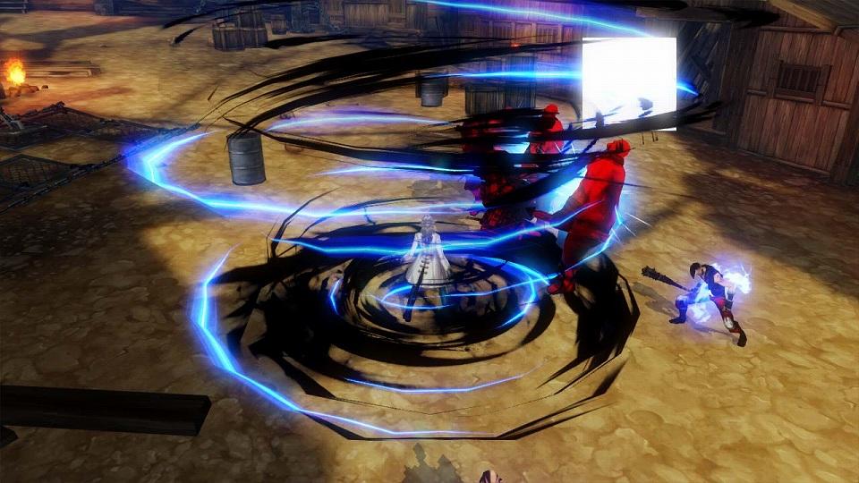 アクションオンラインゲーム『KRITIKA:クリティカ』「覚醒」スキル一部紹介!影術師 スキル「シュバルツシクローン」の回転速度を上げ、さらに上方へ攻撃範囲が広がり、空中の敵をも捕捉する「アウフシュティグ」へ