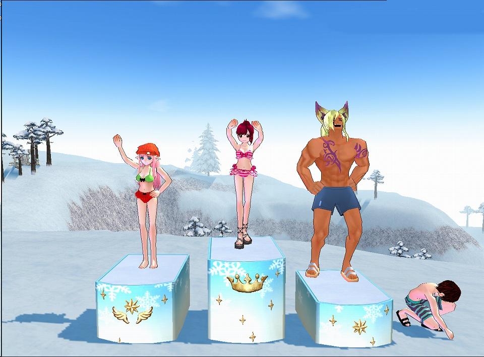 『マビノギ』「夏はピシスでスキージャンプイベント」開催!良い記録を出すと「サマースキーイベント記念ボックス」が貰えます!