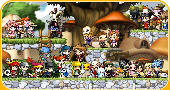 横スクロールアクションRPG 『 メイプルストーリー 』