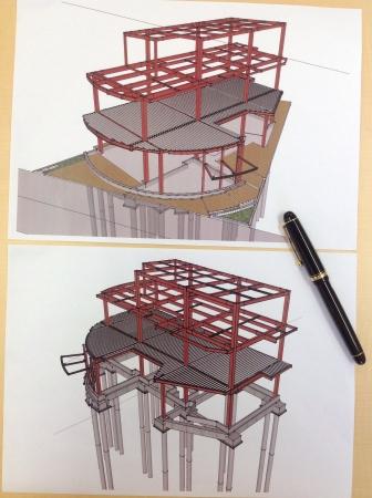 最新技術のBIMによる構造設計を行っています。