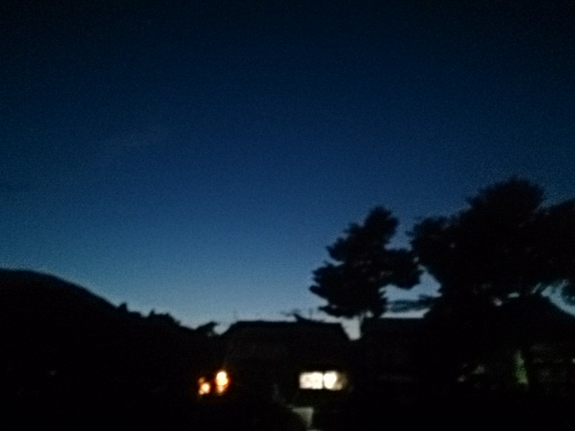 20140907 夕方の西の空