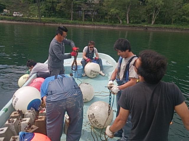 20140916 漁協作業 ブイ撤収