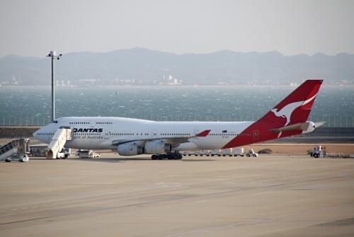 カンタス航空 Boeing 747-400 横顔