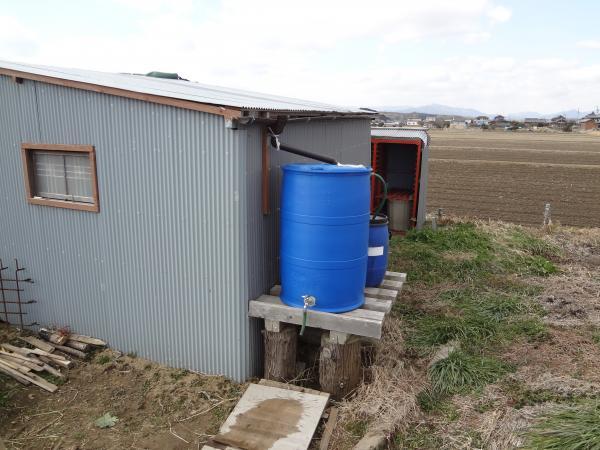 雨水を蓄える設備