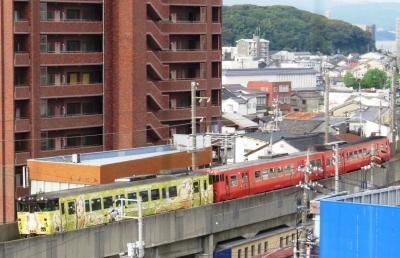 ねずみ男列車と二代目タラコ列車