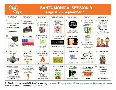 Calendar Session 9A2014