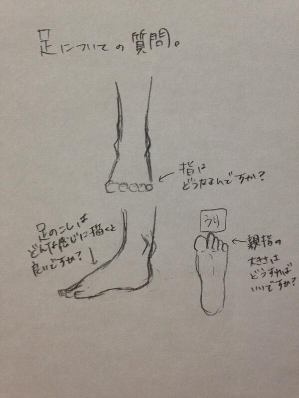 足の描き方00